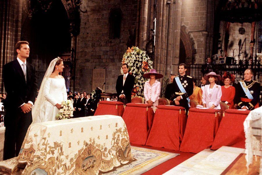 Le mariage de l'infante Cristina d'Espagne et de Inaki Urdangarin, à Barcelone le 4 octobre 1997