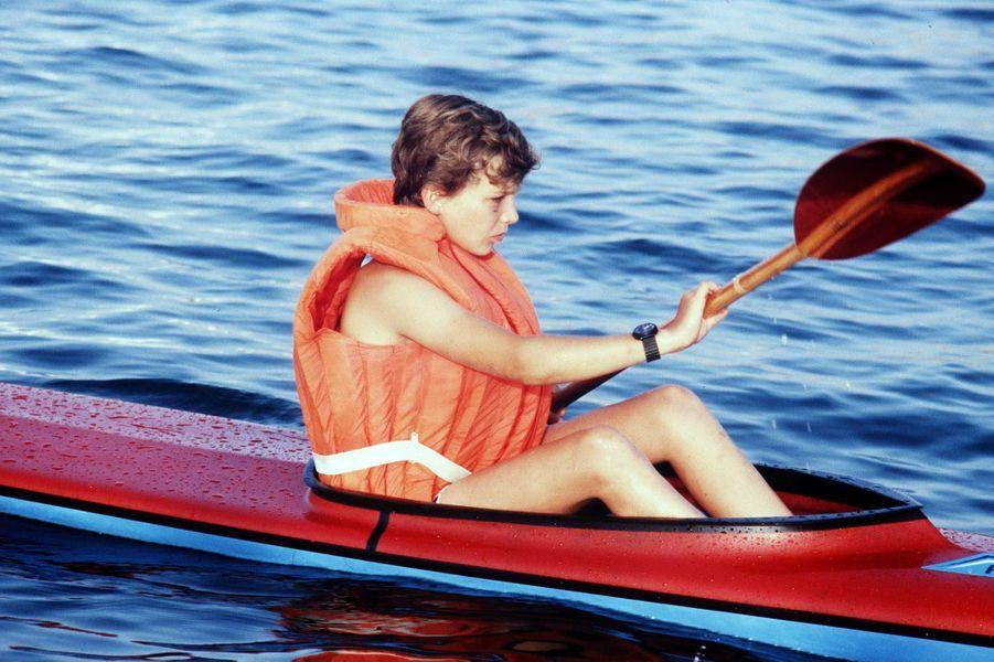 Le prince Felipe d'Espagne, le 7 juillet 1980