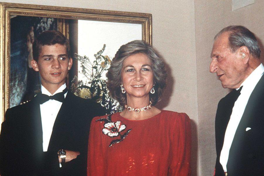 Le prince Felipe d'Espagne, le 12 octobre 1985