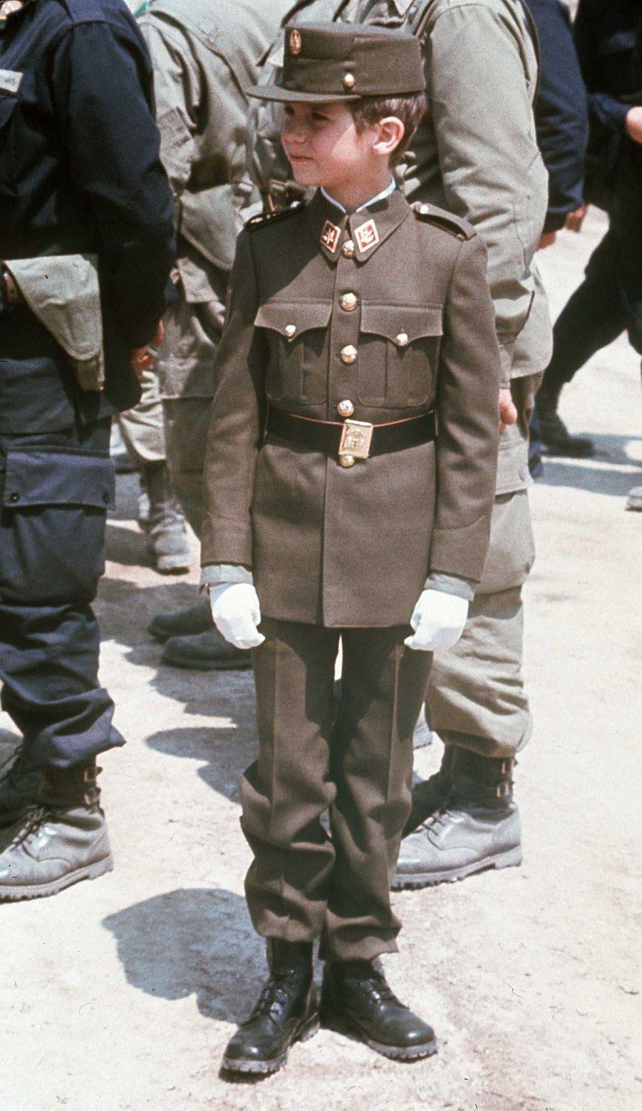 Le prince Felipe d'Espagne, le 28 mai 1977
