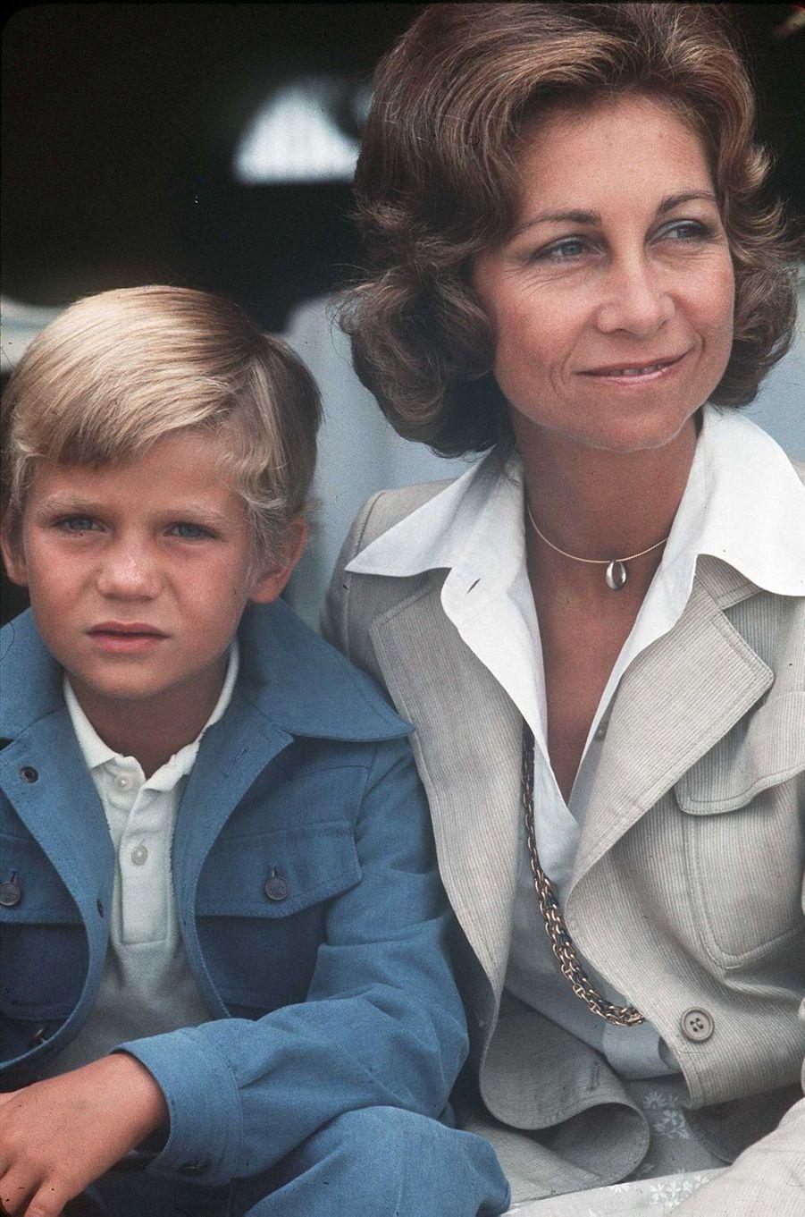 Le prince Felipe d'Espagne, le 16 septembre 1975