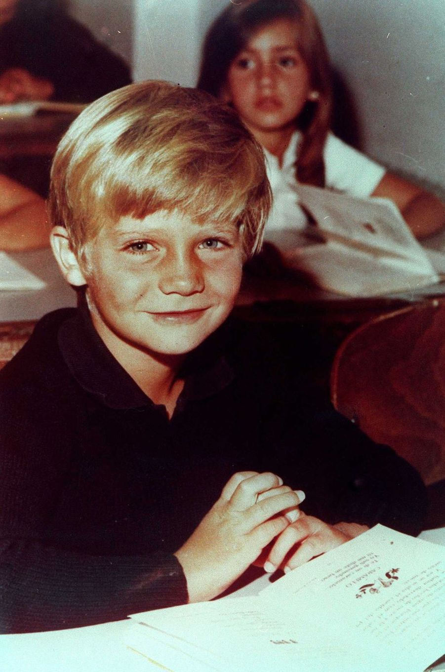 Le prince Felipe d'Espagne, le 26 novembre 1974
