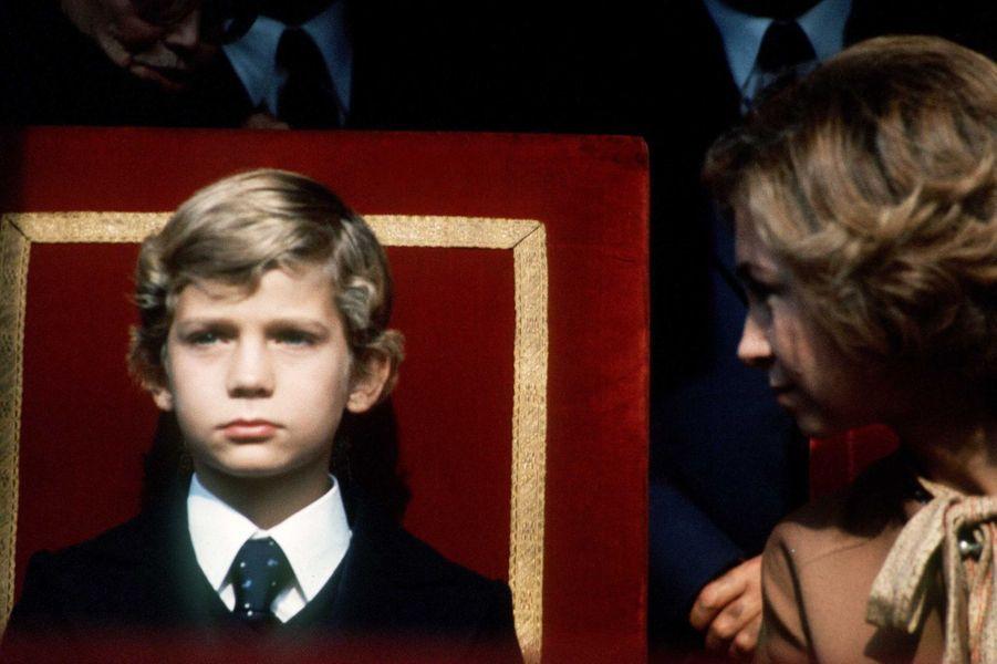 Le prince Felipe d'Espagne, le 1er novembre 1977