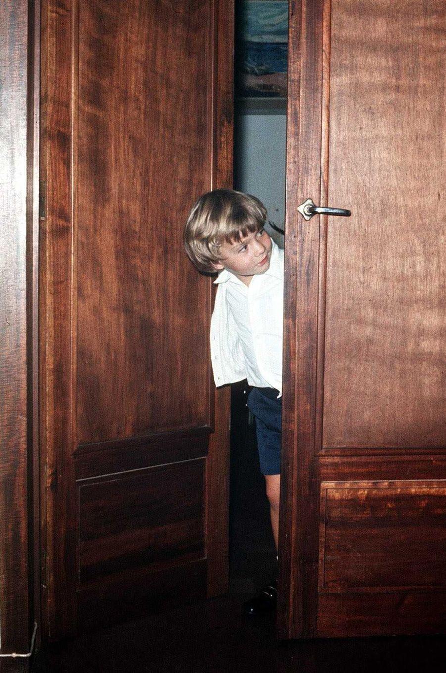 Le prince Felipe d'Espagne, le 12 octobre 1972