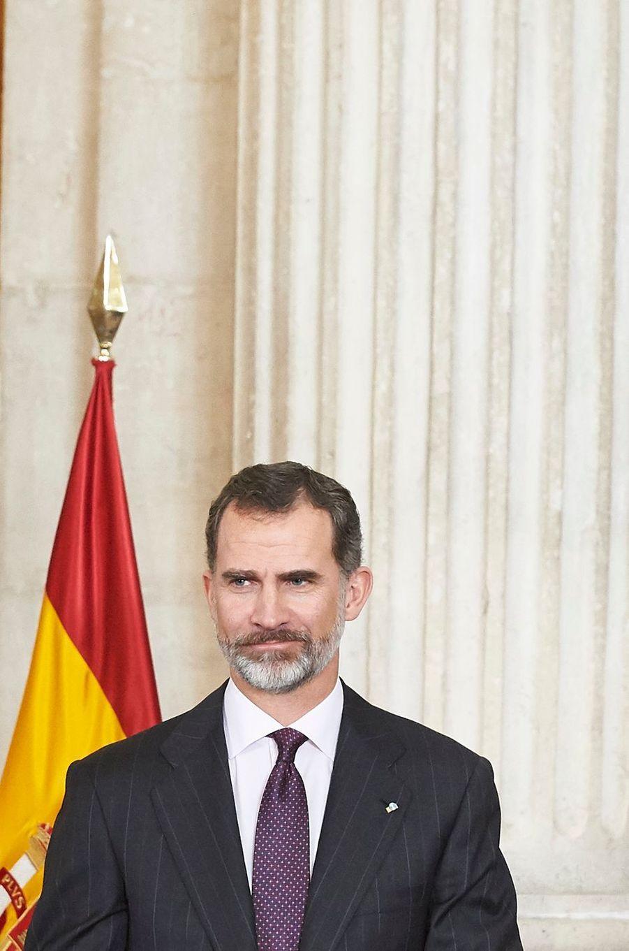 Letizia Et Felipe VI D'Espagne Madrid, Le 30 Janvier 2017 8
