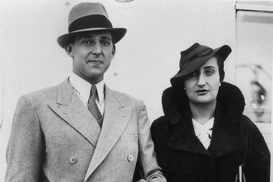 Le prince Juan avec sa femme à New York dans les années 1930