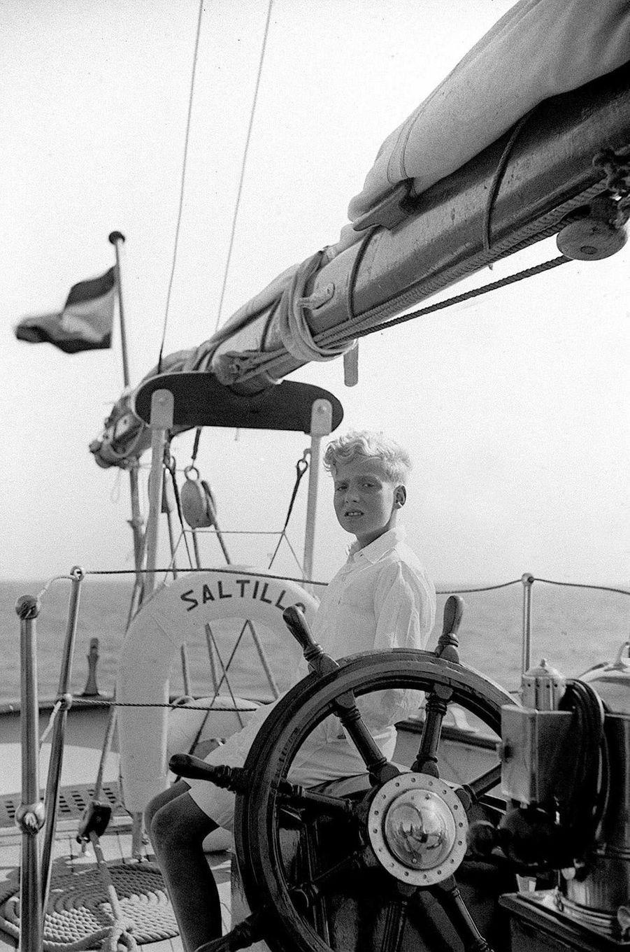 Le prince Juan Carlos d'Espagne, le 28 août 1949