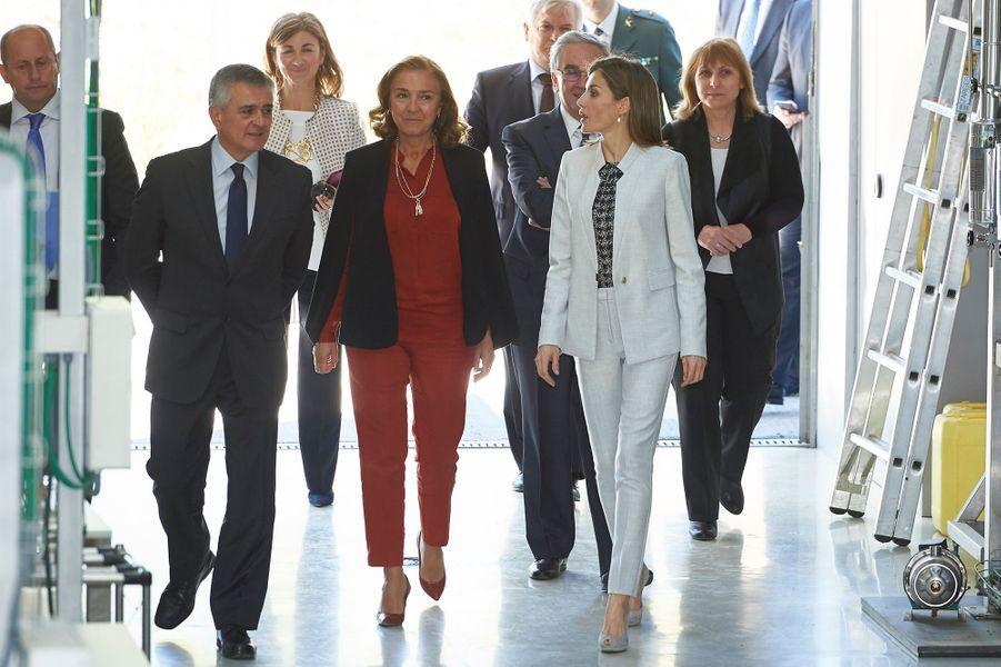 La reine Letizia d'Espagne à Madrid, le 3 mai 2016