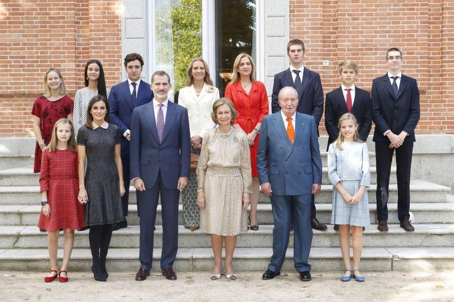 L'ex-reine Sofia avec toute sa famille, le 2 novembre 2018