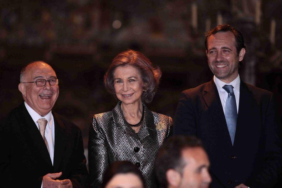 L'ex-reine Sofia d'Espagne à Palma de Majorque, le 30 mars 2015