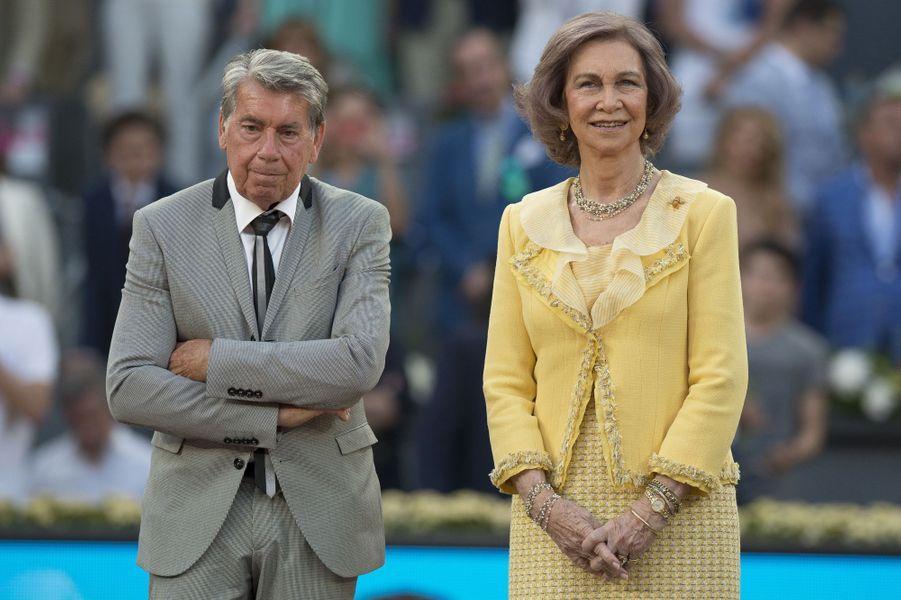 L'ex-reine Sofia d'Espagne aux Masters de Madrid, le 10 mai 2015