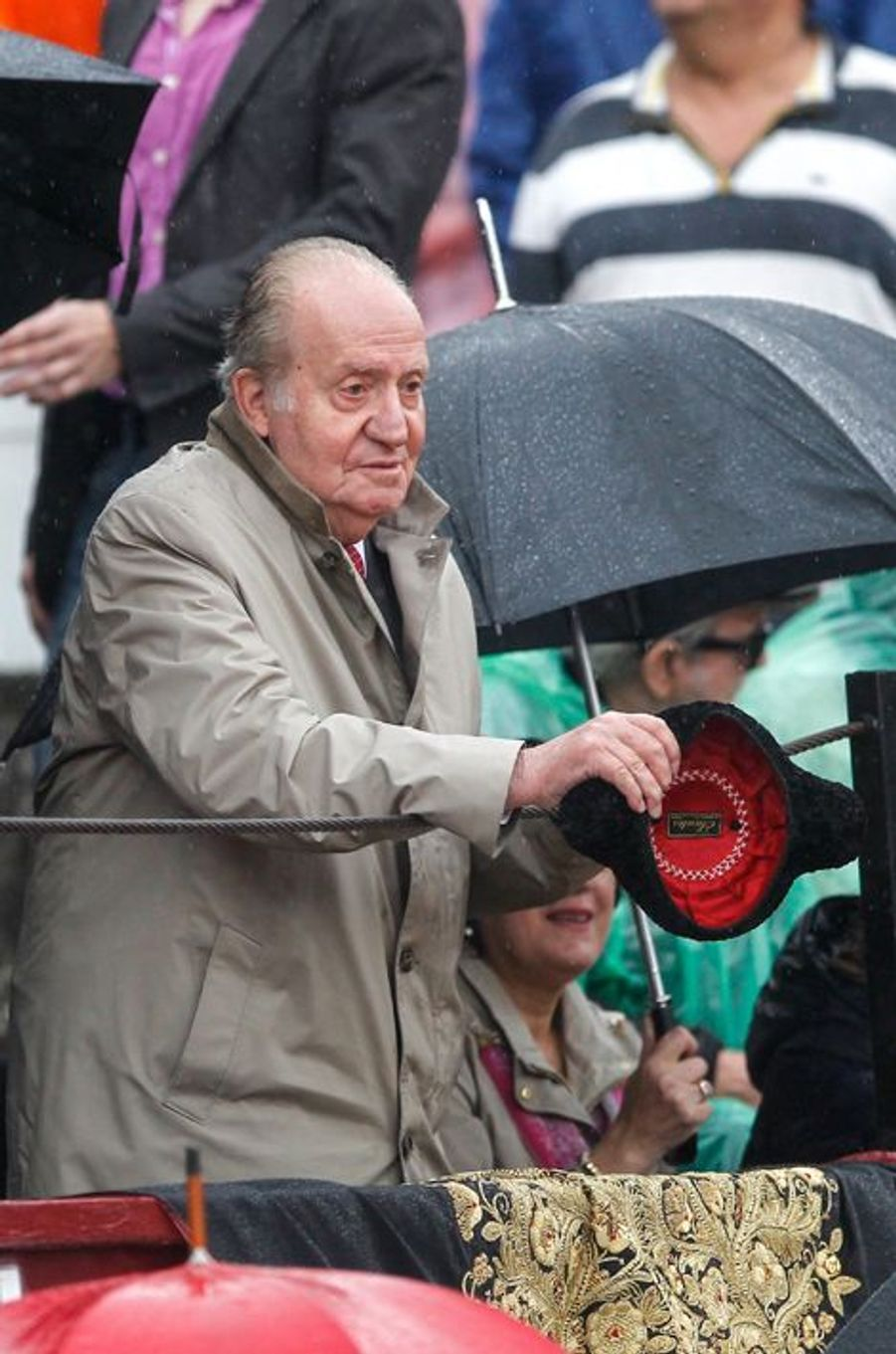 L'ex-roi d'Espagne Juan Carlos à la corrida de Brihuega, le 11 avril 2015