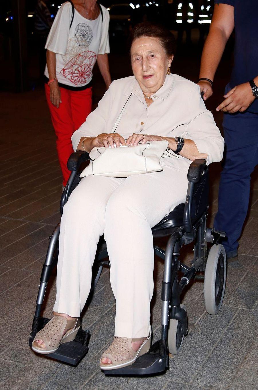 L'infante Margarita d'Espagne, le 20 septembre 2018