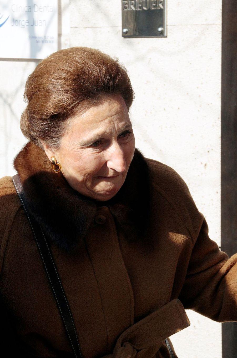 L'infante Margarita d'Espagne, le 26 janvier 2012