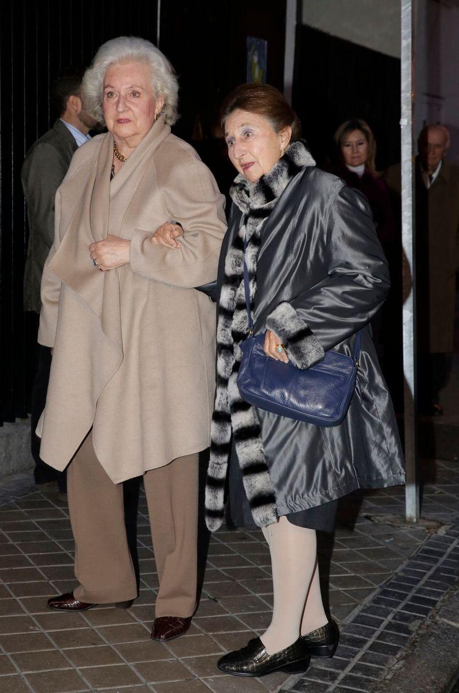 L'infante Margarita d'Espagne avec sa soeur aînée l'infante Pilar, le 25 novembre 2012