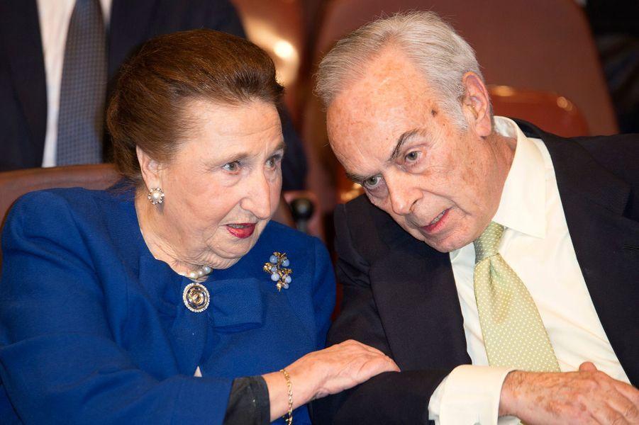 L'infante Margarita d'Espagne et son mari Carlos Zurita, le 8 mars 2016
