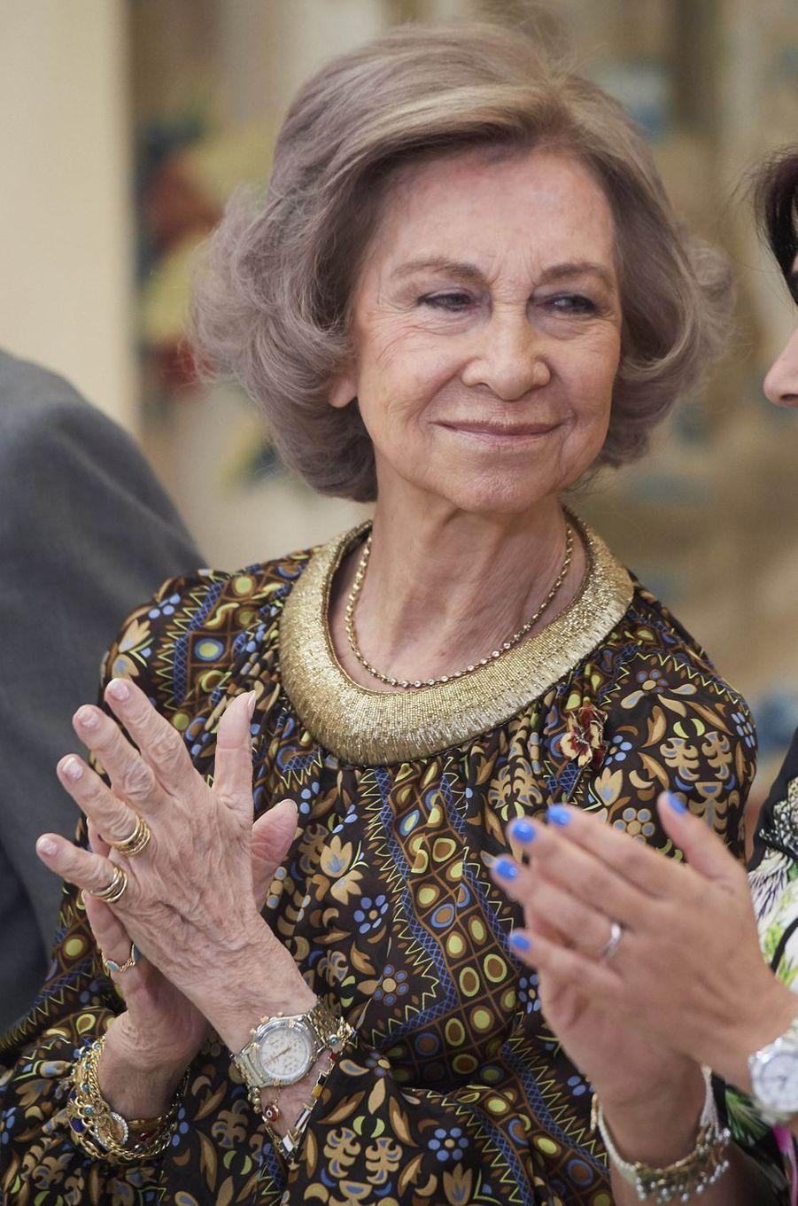 L'ex-reine Sofia d'Espagne à Madrid, le 10 janvier 2018