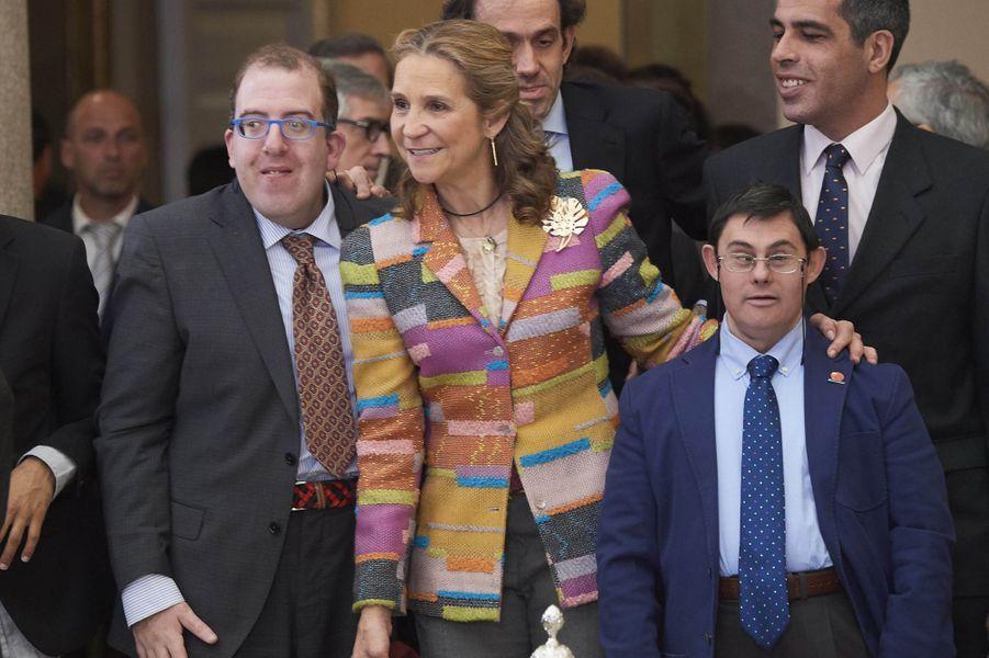 L'infante Elena d'Espagne à Madrid, le 10 janvier 2018