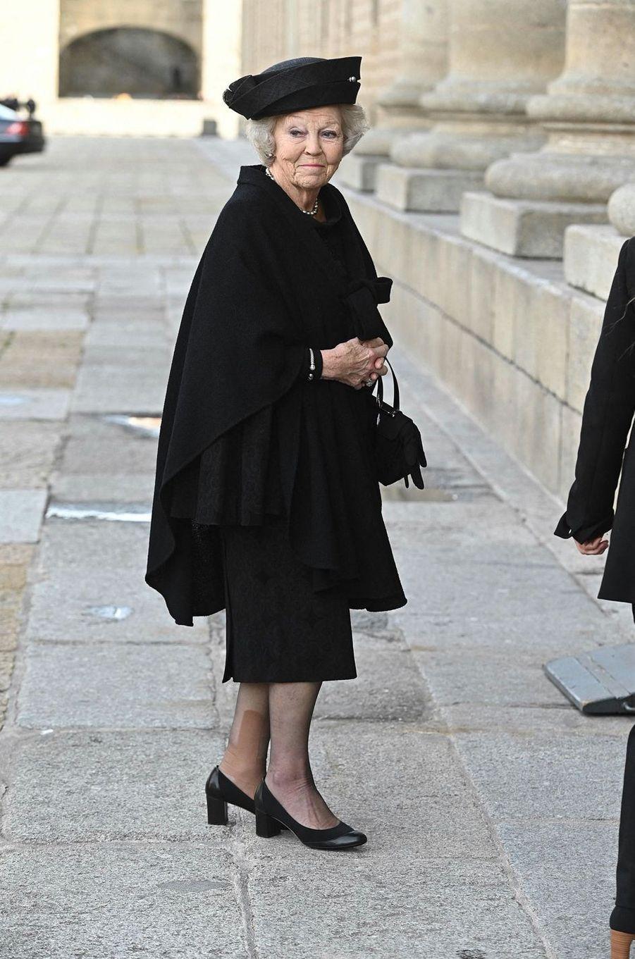 L'ex-reine Beatrix des Pays-Bas au monastère royal de San Lorenzo de El Escorial, le 29 janvier 2020