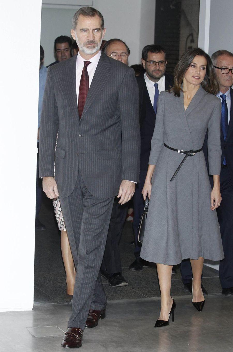 La reine Letizia et le roi Felipe VI d'Espagne à Madrid, le 3 décembre 2018