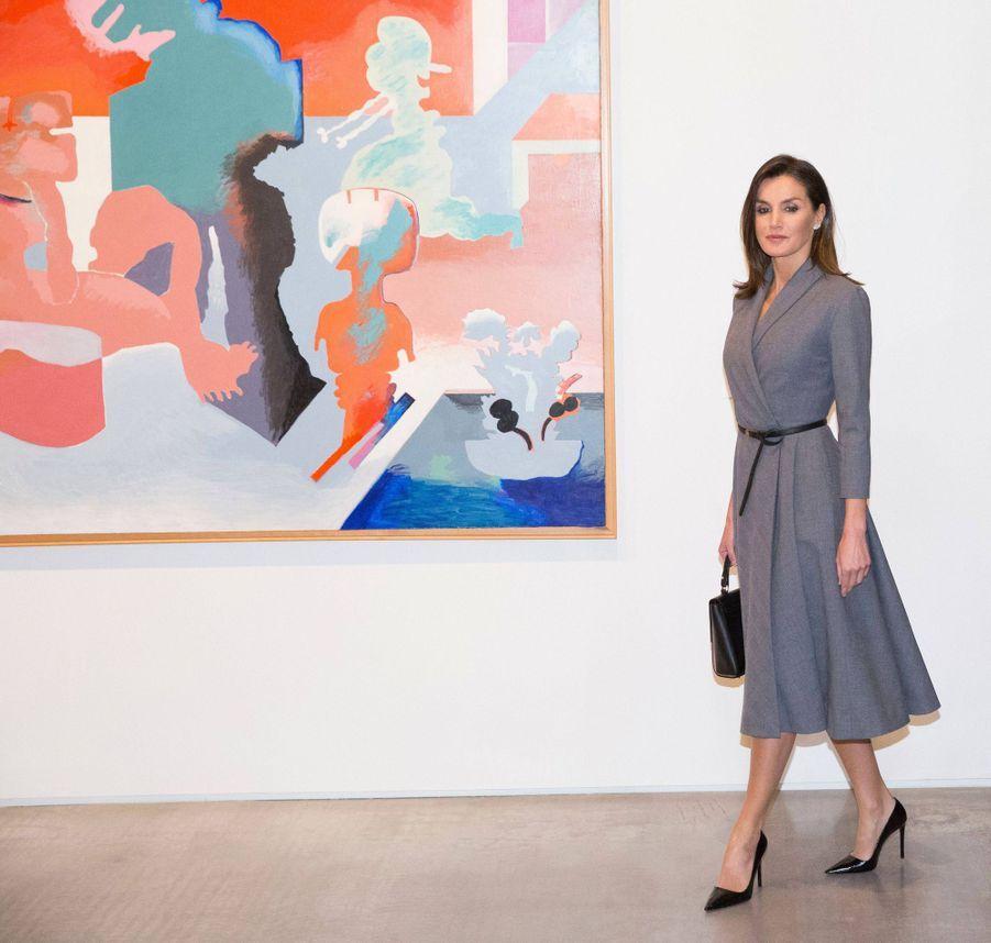 La reine Letizia d'Espagne à Madrid, le 3 décembre 2018
