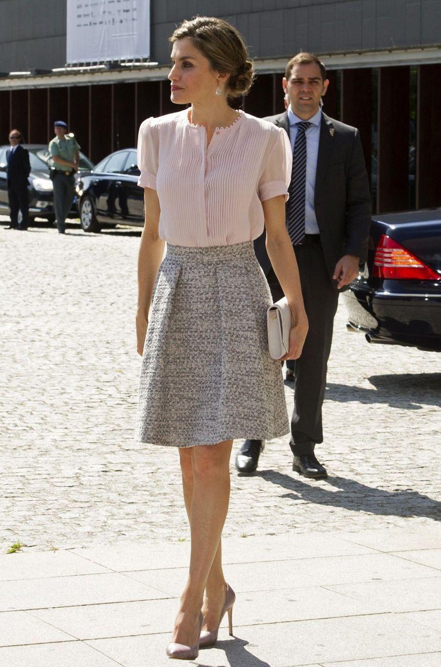 La reine Letizia d'Espagne à Pampelune, le 29 juin 2016