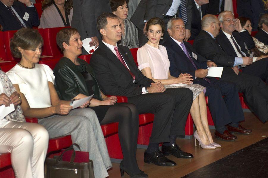 La reine Letizia et le roi Felipe VI d'Espagne à Pampelune, le 29 juin 2016