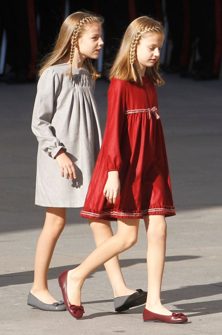 Les princesses Sofia et Leonor d'Espagne à Madrid, le 17 novembre 2016