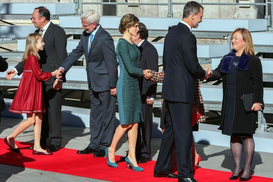 Le roi Felipe VI, la reine Letizia et la princesse Leonor d'Espagne à Madrid, le 17 novembre 2016
