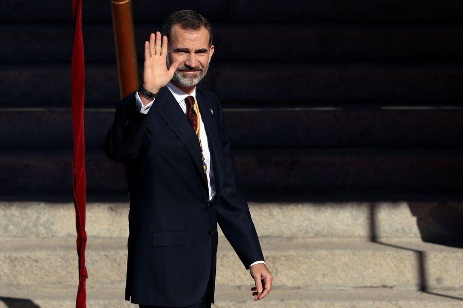 Le roi Felipe VI d'Espagne à Madrid, le 17 novembre 2016