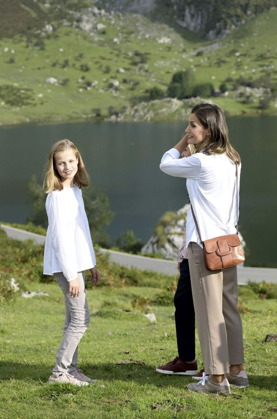 La princesse Leonor et la reine Letizia d'Espagne dans les Asturies, le 8 septembre 2018