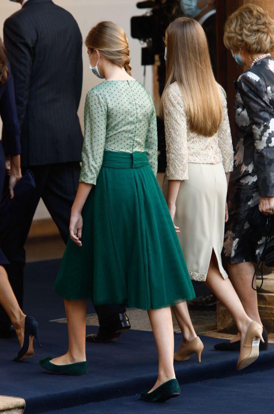 La princesse Leonor d'Espagne, à Oviedo le 16 octobre 2020