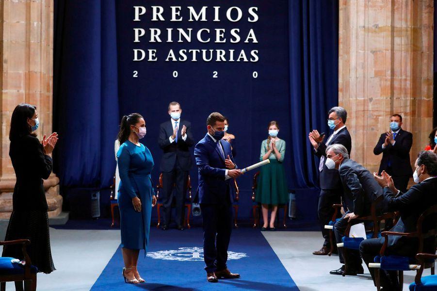 Cérémonie de remise des Prix Princesse des Asturies 2020 à Oviedo, le 16 octobre 2020
