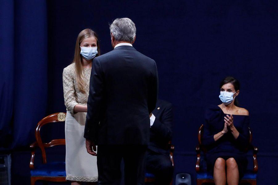 La princesse Leonor d'Espagne à Oviedo, le 16 octobre 2020