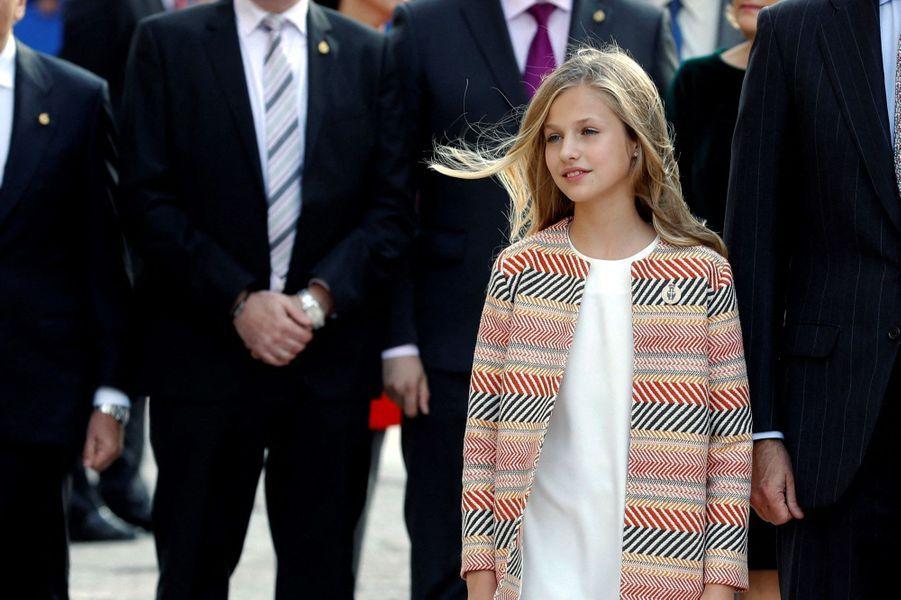 La princesse Leonor d'Espagne à Oviedo, le 17 octobre 2019