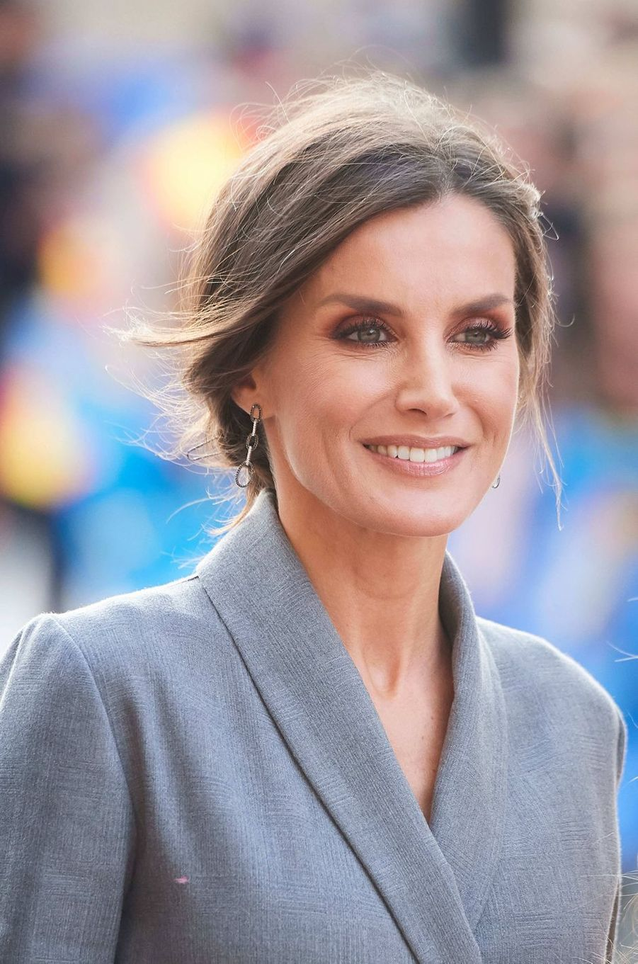La reine Letizia d'Espagne à Oviedo, le 17 octobre 2019