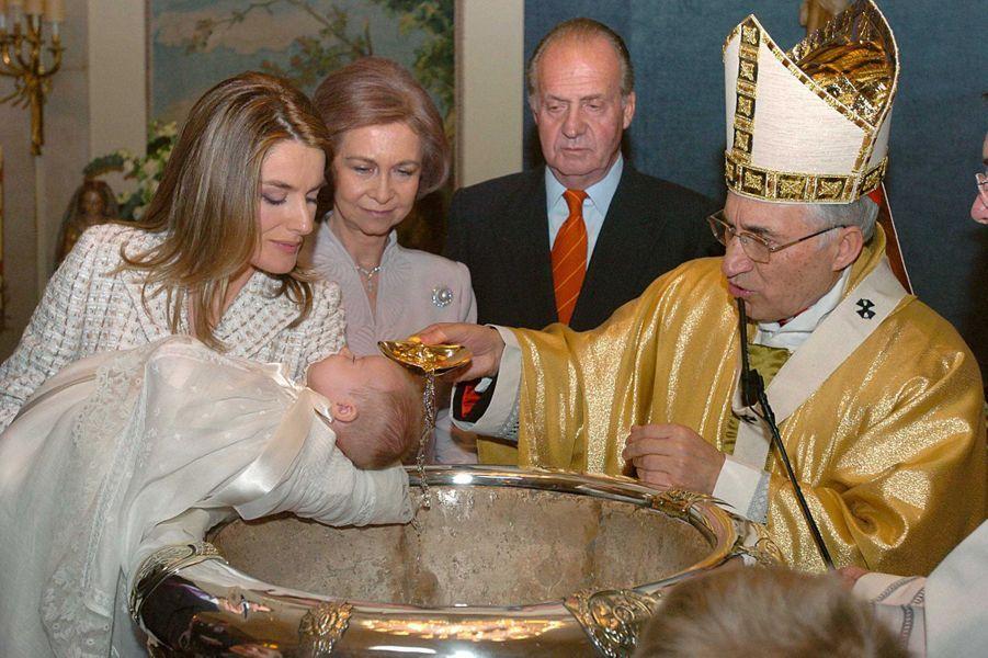Baptême de la princesse Leonor d'Espagne, le 14 janvier 2006