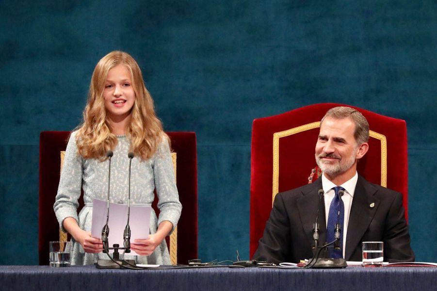Premier discours de la princesse Leonor d'Espagne lors de sa première remise des Prix Princesse des Asturies, le 18 octobre 2019