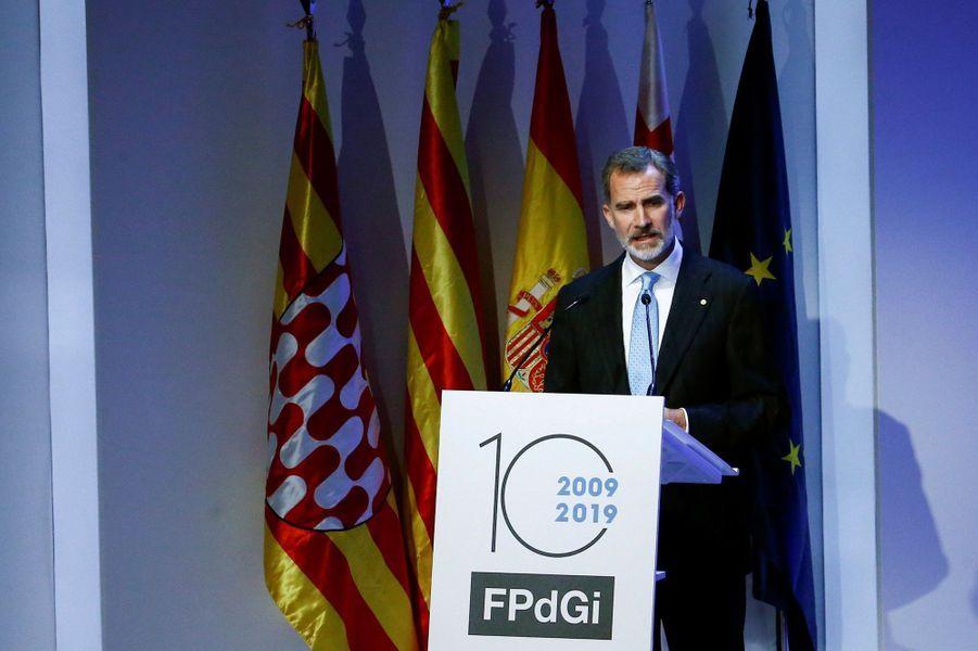 Le roi Felipe VI d'Espagne à Barcelone, le 4 novembre 2019