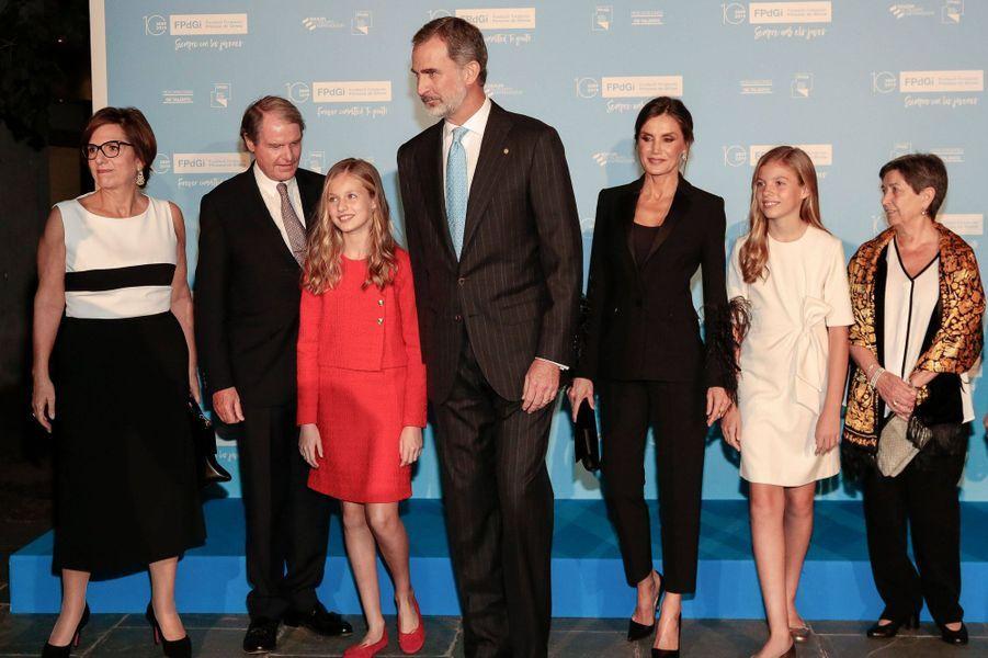 La princesse Leonor d'Espagne avec le roi Felipe VI, la reine Letizia et la princesse Sofia à Barcelone, le 4 novembre 2019