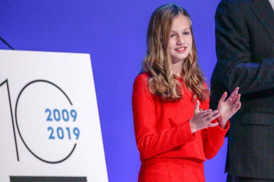 La princesse Leonor d'Espagne à Barcelone, le 4 novembre 2019
