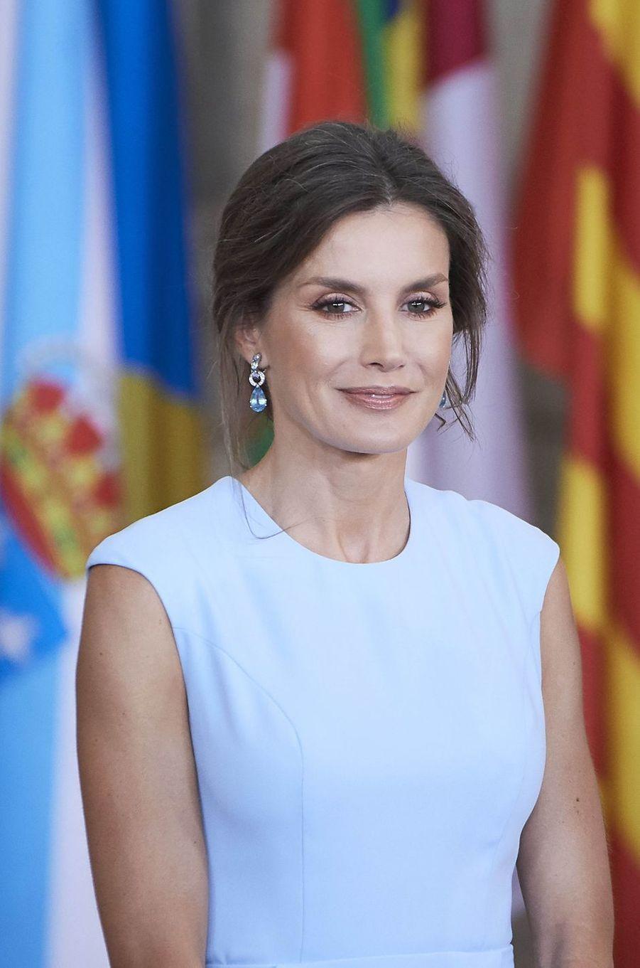 La reine Letizia d'Espagne à Madrid, le 19 juin 2019