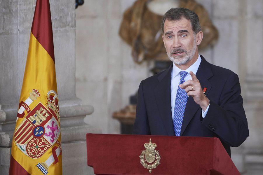 Le roi Felipe VI d'Espagne à Madrid, le 19 juin 2019