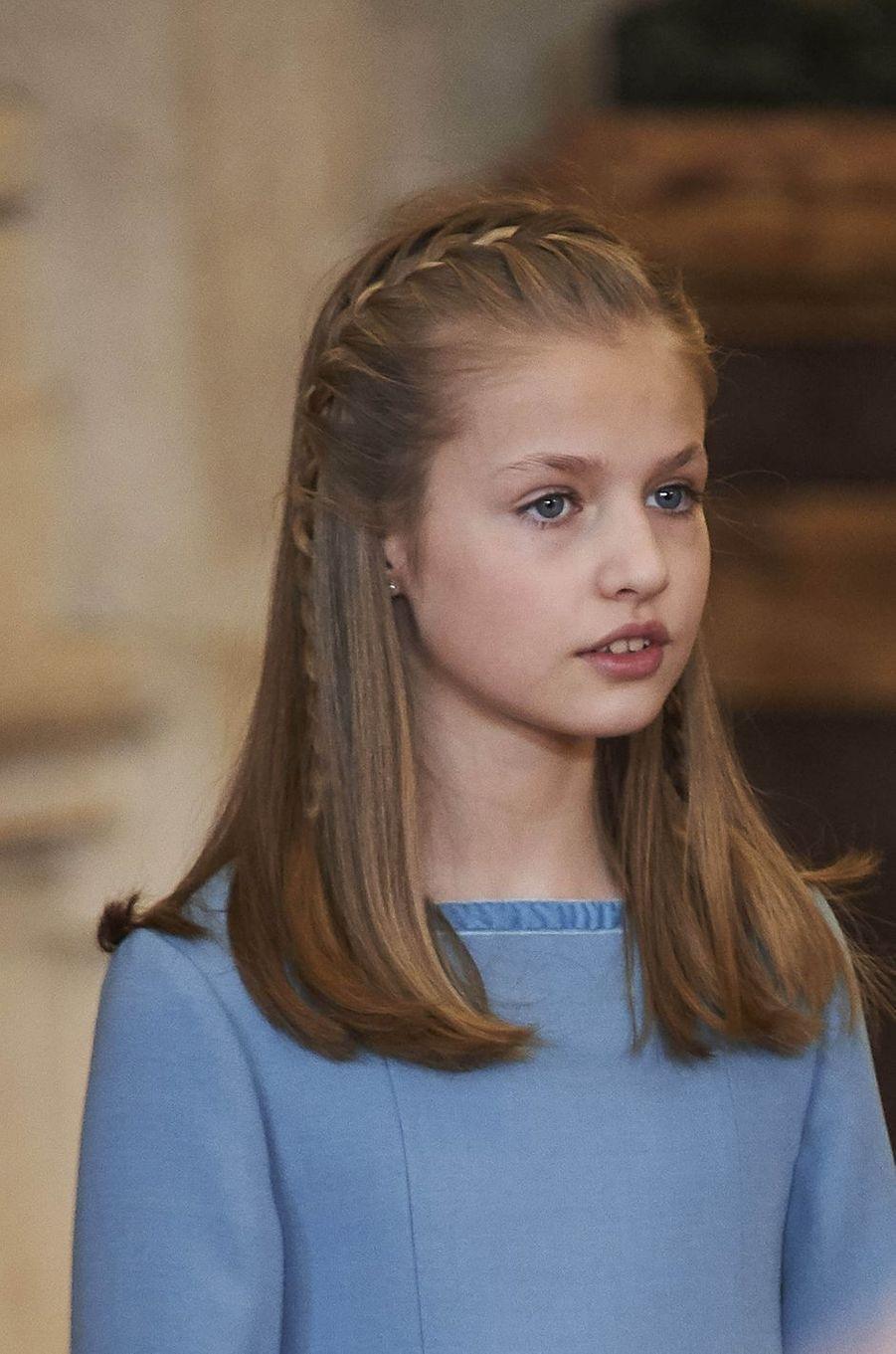 La princesse Leonor d'Espagne à Madrid, le 30 janvier 2018