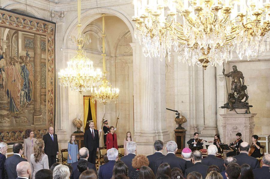 Cérémonie de remise de l'Ordre de la Toison d'Or à la princesse Leonor d'Espagne à Madrid, le 30 janvier 2018