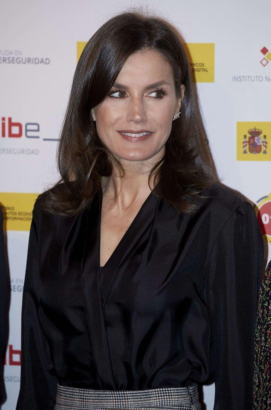 La reine Letizia d'Espagne à Madrid, le 11 février 2020