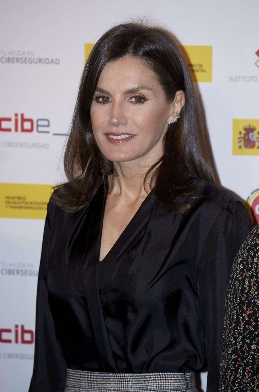 La reine Letizia d'Espagne, le 11 février 2020 à Madrid