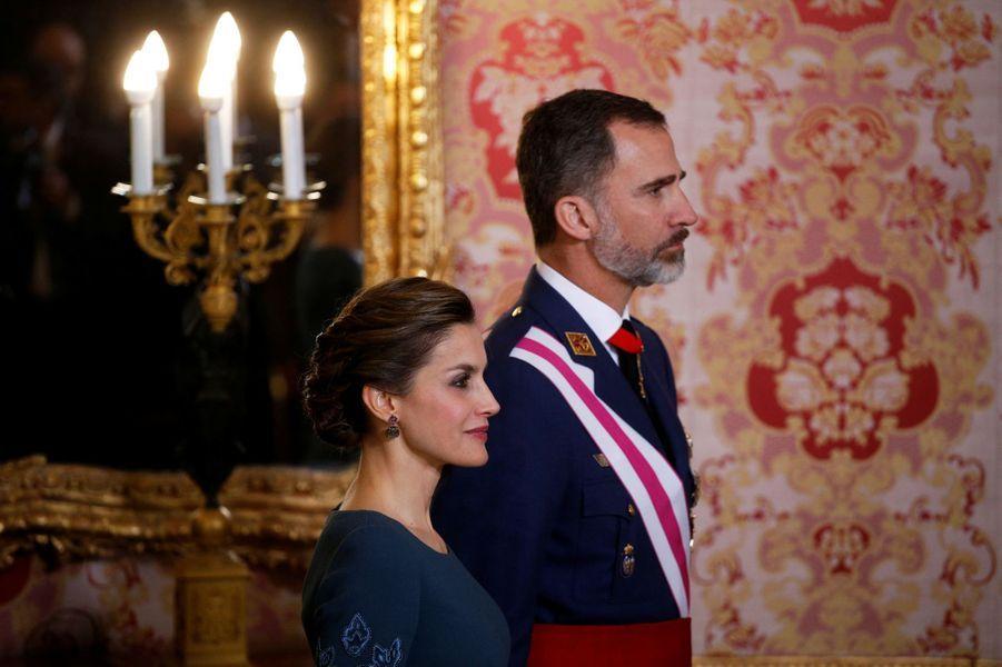 Letizia Felipe VI Espagne Paque Militaire Madrid 6 Janv 2016 18