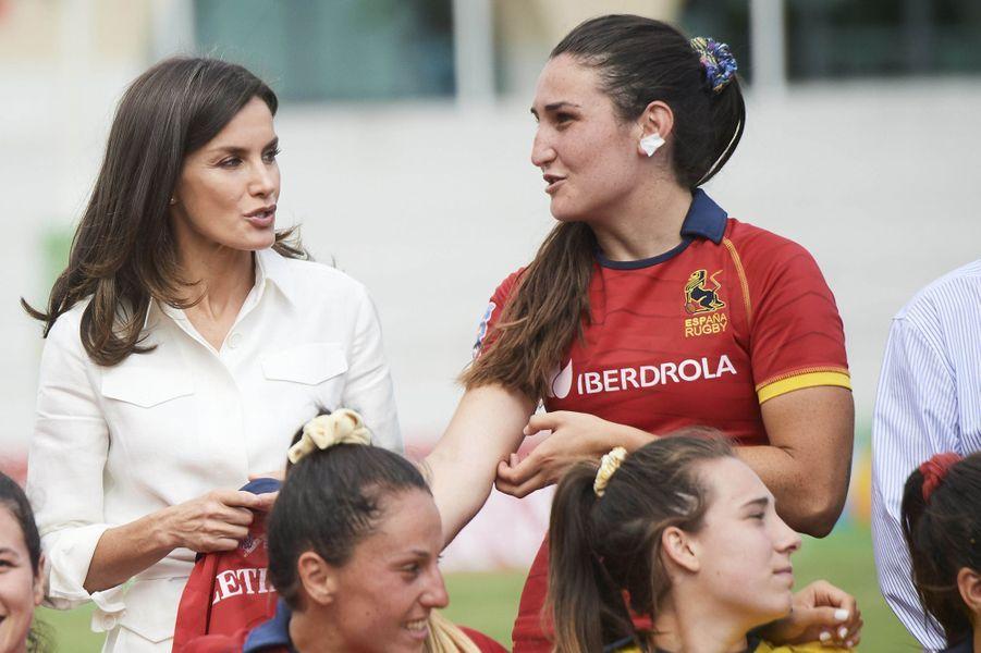 La reine Letizia d'Espagne à Madrid, le 4 juillet 2019