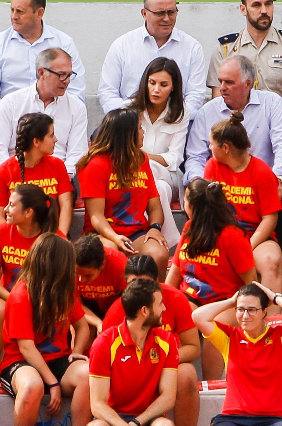 La reine Letizia d'Espagne, le 4 juillet 2019 à Madrid